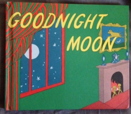 """Goodnight Moon"" --a classic bedtime story. I love the bright colors. A friend said to me once, What's its point? I just like it, but it also has great opportunities for children to grow in their rhyming and identification skills."