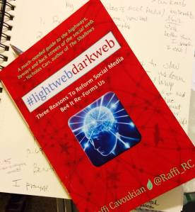 "Sarah's copy of ""Lightweb Darkweb"" for Reverie of a Picture Book"