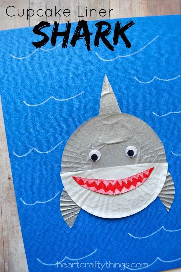 Cupcake Liner Shark